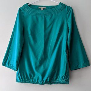 Banana Republic 3/4 Sleeve Blouse Teal Size XS